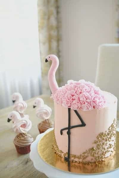 Porcukor Kezmuves Cukraszmuhely Szeged Design Torta Referencia Flamingo Torta Rozsaszin Arany